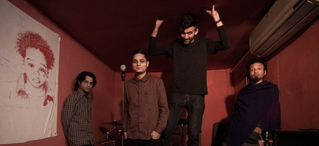 (From left) Akhil Sood, Akshat Nauriyal, Samar Grewal and Kamal Singh  Photo courtesy of the artist