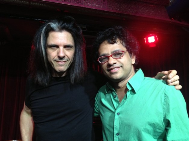 (left) Alex Skolnick with Prasanna. Photo: Courtesy of Prasanna