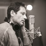 David Duchovny in the studio. Photo: Adam Bradley