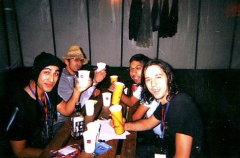 Nerm in Glastonbury with D-Code and Kunal Anand of Kulture Shop