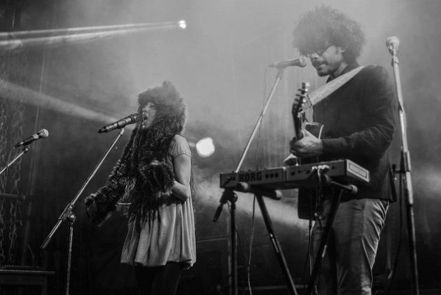 (from left) Saba Azad and Imaad Shah at Ziro Festival of Music in Arunachal Pradesh last year. Photo: Pranab Doley