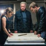 Emilia Clarke, Arnold Schwarzenegger and Jai Courtney in 'Terminator Genisys.' Paramount