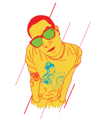 Udyan Sagar aka Nucleya. Illustration by Ishaan Rathod.