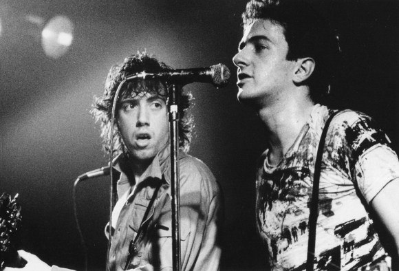 Joe Strummer and Mick Jones