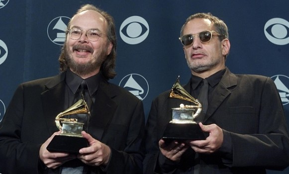 Walter Becker and Donald Fagen. Photo by Vince Bucci/EPA.