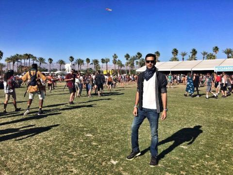 Delhi-based producer Anish Sood at Coachella.