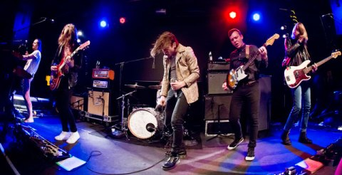 Uncaged: The band onstage at the Box theater, New York