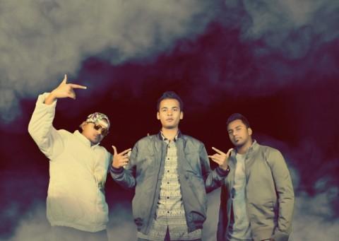 Vocal Support: (From left) Abhishek Dhusia aka Ace, Kinga Rhymes and Nasty Ninja