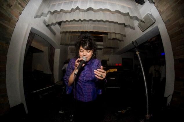 Kolkata vocalist Tanya Sen at Thursday Jazz Encounter: The Big Jam. Photo: Margub Ali