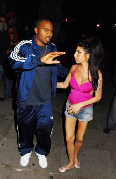 Winehouse with Nas in London, 2010.