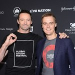 Actor Hugh Jackman and co-Founder and CEO of Global Citizen Hugh Evans (right) attend the 2016 Global Citizen Festival In New York in September this year. Photo: Noam Galai/Getty Images for Global Citizen
