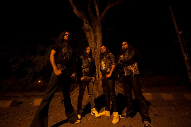 Bengaluru metallers Kryptos - (from left) Ganesh Krishnaswamy, Anthony Hoover, Rohit Chaturvedi and Nolan Lewis. Photo: Courtesy of the artist