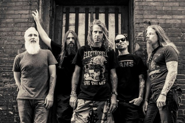 American metallers Lamb of God: John Campbell, Mark Morton, Randy Blythe, Willie Adler and Chris Adler (from left). Photo: Travis Shinn