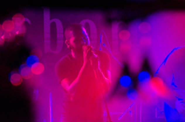 Eric Emery performing on Skyharbor's first stop on their India tour in Kolkata. Photo: Margub Ali