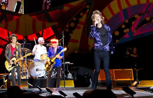 Rolling Stones performs during a concert held at the Centenario stadium in Montevideo, on February 16, 2016. Photo: NEWZULU/Alamy Stock Photo