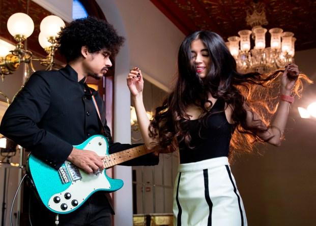 Imaad Shah and Saba Azad of Mumbai-based electro-swing duo Madboy/Mink. Photo: Ishaan Nair