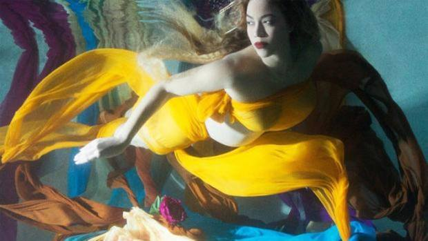 Beyonce unveiled a new album of maternity photos after announcing she is pregnant with twins. Photo: beyonce.com