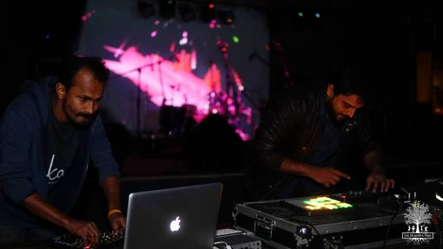 Naquash and Panicker at one of their live shows as Aerate Sound. Photo: Courtesy of the artist
