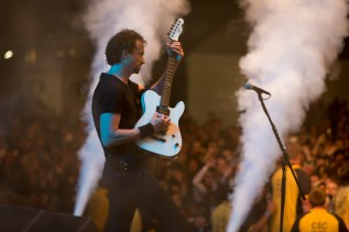 Gojira frontman Joe Duplantier at Rock on the Range 2017. Photo: Kenny Bahr