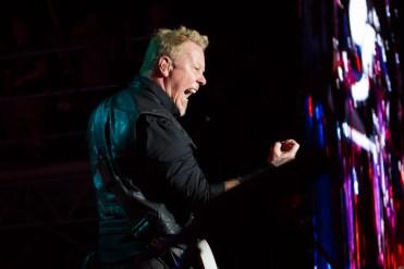 Metallica frontman James Hetfield at Rock on the Range 2017. Photo: Kenny Bahr