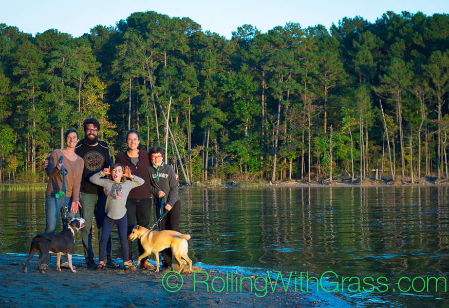 Rolling with Grass family at Jordan Lake NC Fall 2014