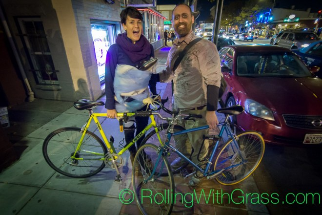 Lean and Evan by the Saloon on Halloween Grass DC 2014