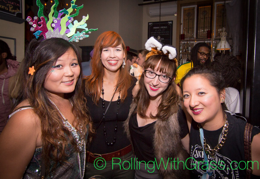 More ladies at the Fainting Goat on u Street Halloween Grass DC 2014
