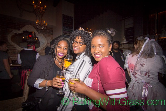 Pretty Ladies at Fainting Goat Halloween Grass DC 2014