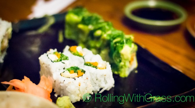 Hugged Roll and Peta Roll at Kotobuki vegan sushi norfolk va oct 2014