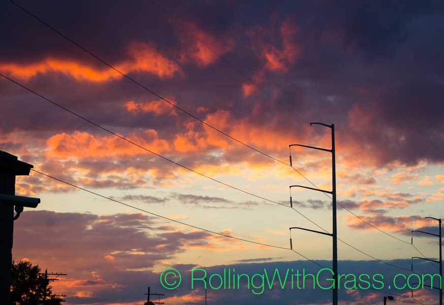 sunset from o'connor brewing norfolk va rolling with grass oct 2014