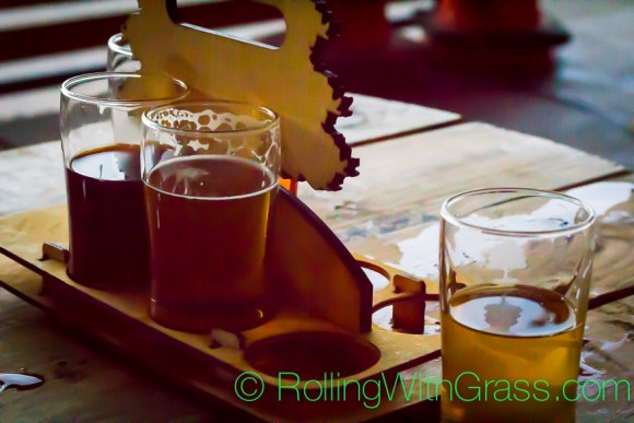Whats left of the tasting flight at o'connor brewing norfolk va rolling with grass oct 2014
