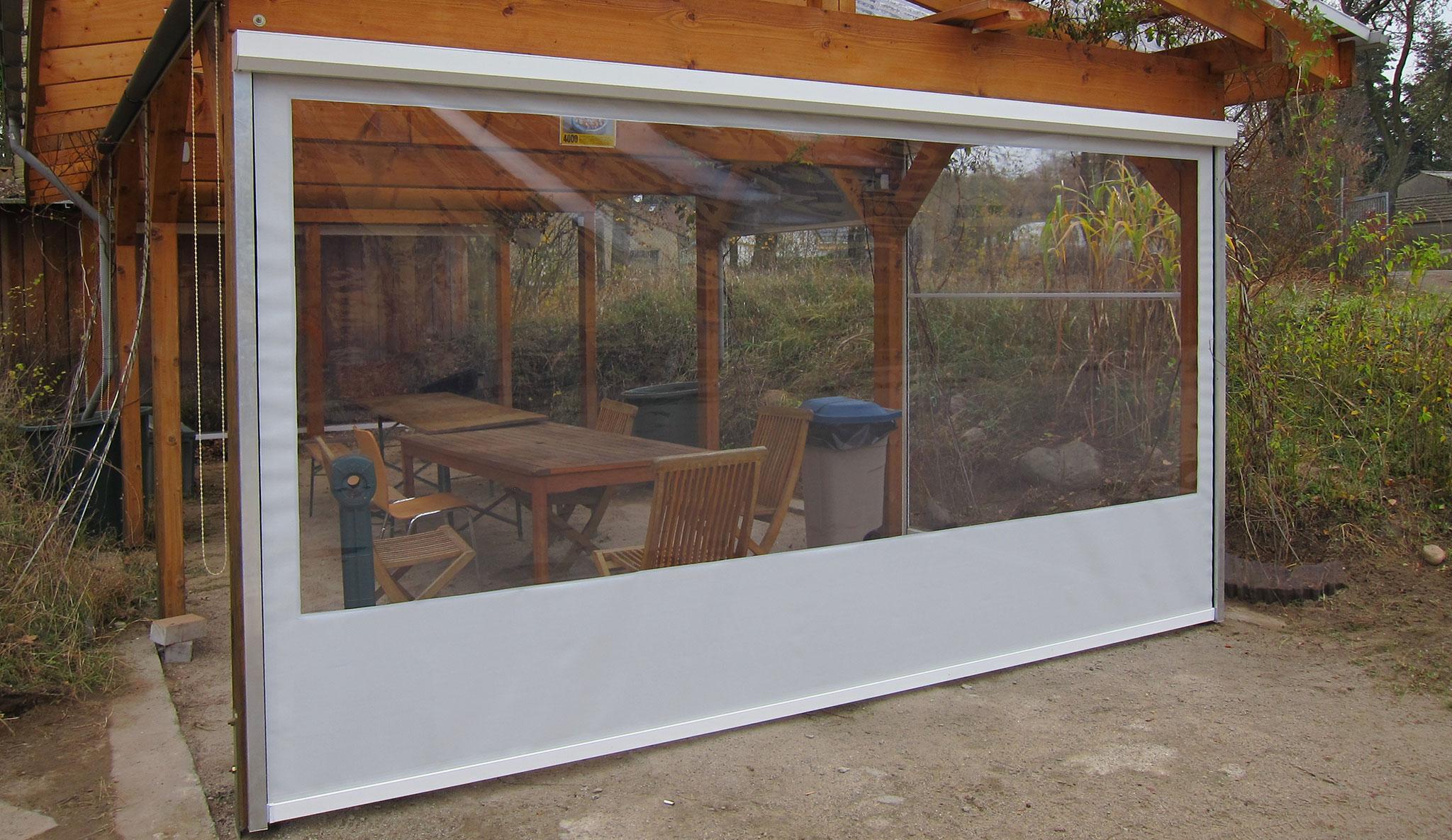 Durchsichtige Wetterschutzrollos Für Terrassen Und Loggien