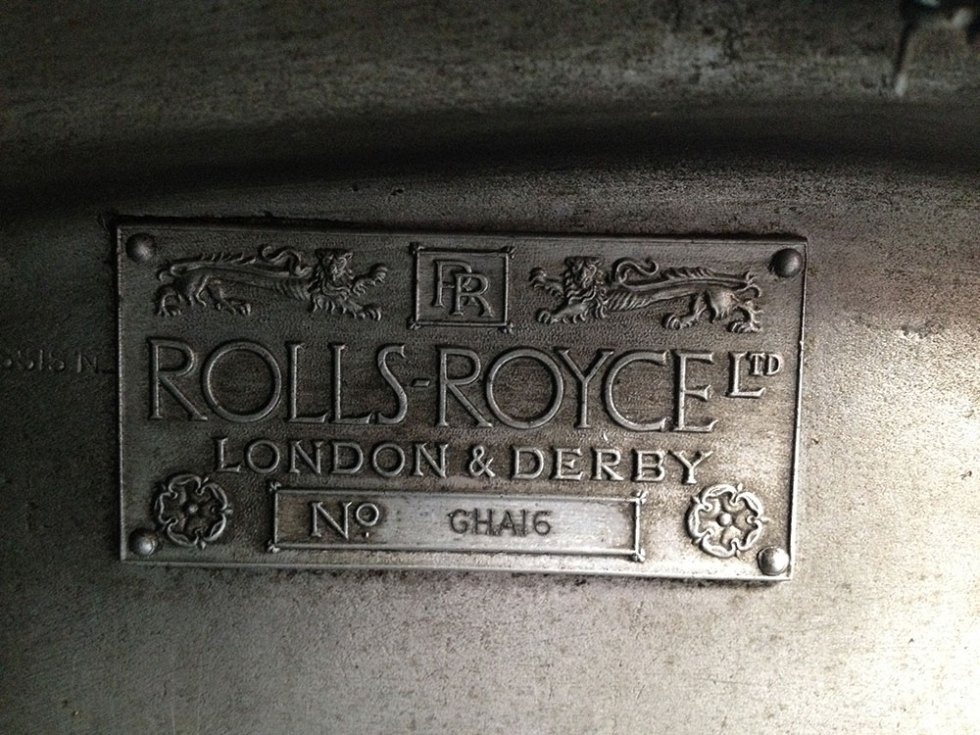 Rolls-Royce Chassis Plate GHA