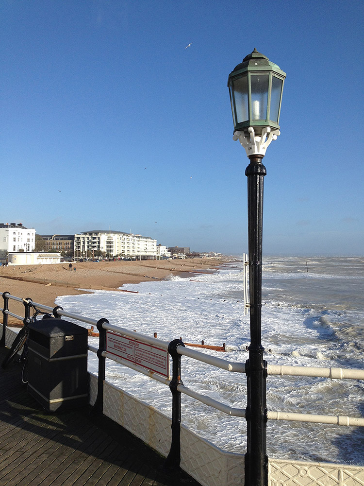 Worthing, looking East from the Pier.