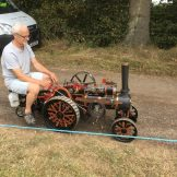 Working miniature traction engine at the Rudgwick Country Show 2016