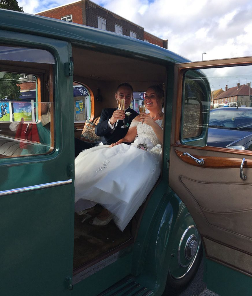 Cheers! Mr & Mrs Eden - Rolls-Royce Wedding