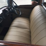 New leather front seat