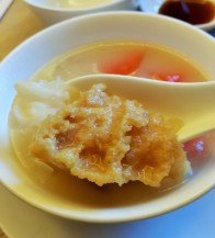 Double Boiled Fish Maw Soup with Papaya and Aloe Vera