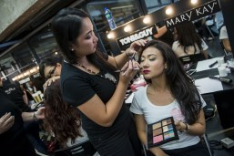Models during the Mary Kay Dream Beautiful 2014 contest at the Editus on 14 October 2014 in Hong Kong. Photo by Aitor Alcalde / studioEAST.