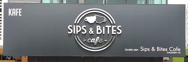 Sips & Bites Signboard