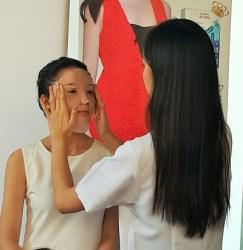 Applying Dr.Morita Hydration Mask