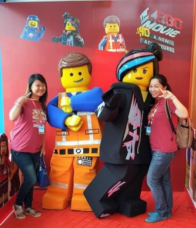 Me & Wendy at the red carpet with Emmet & Wyldstyle