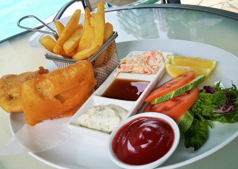 Fish & Chips - Terrance Poolside Bar & Grill - Pullman KLCC