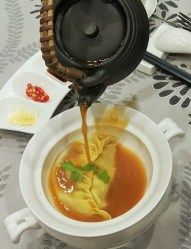 Lobster Dumpling in Seafood Soup - Sky Palace