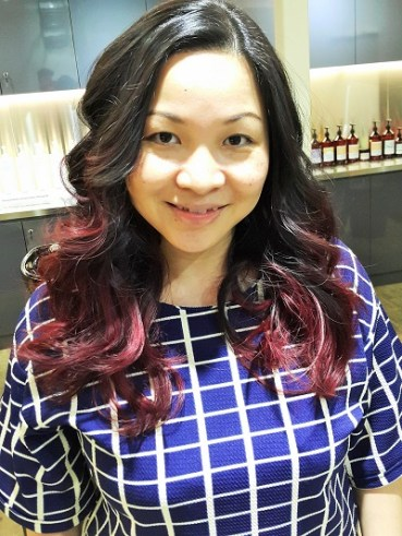 Final outcome Davines touch up session