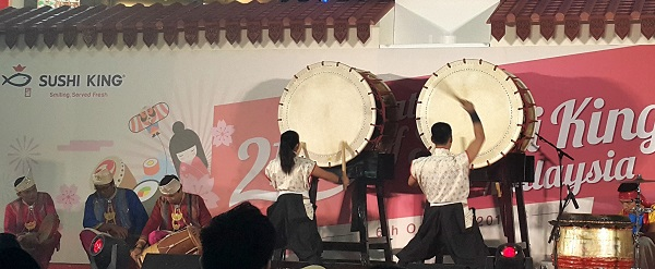 A unique Fusion Cultural Drums performance by Malaysian Drum Symphony featuring kompang and Japanese taiko drums.
