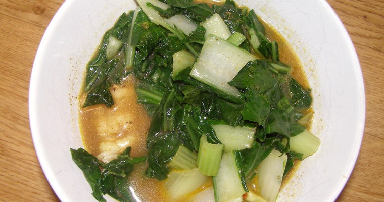 Cod with Curry Sauce and Bok Choy