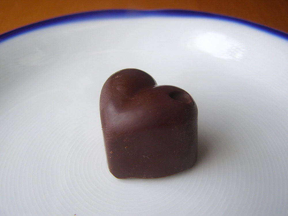 Dark Chocolate Truffle Hearts