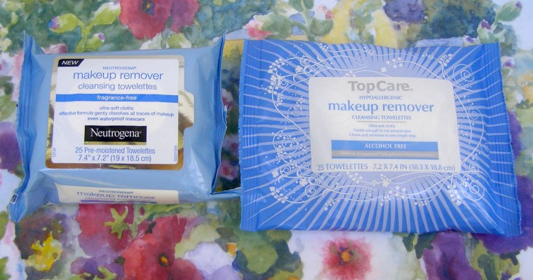 Neutrogena vs TopCare Makeup Remover Cleansing Towelettes