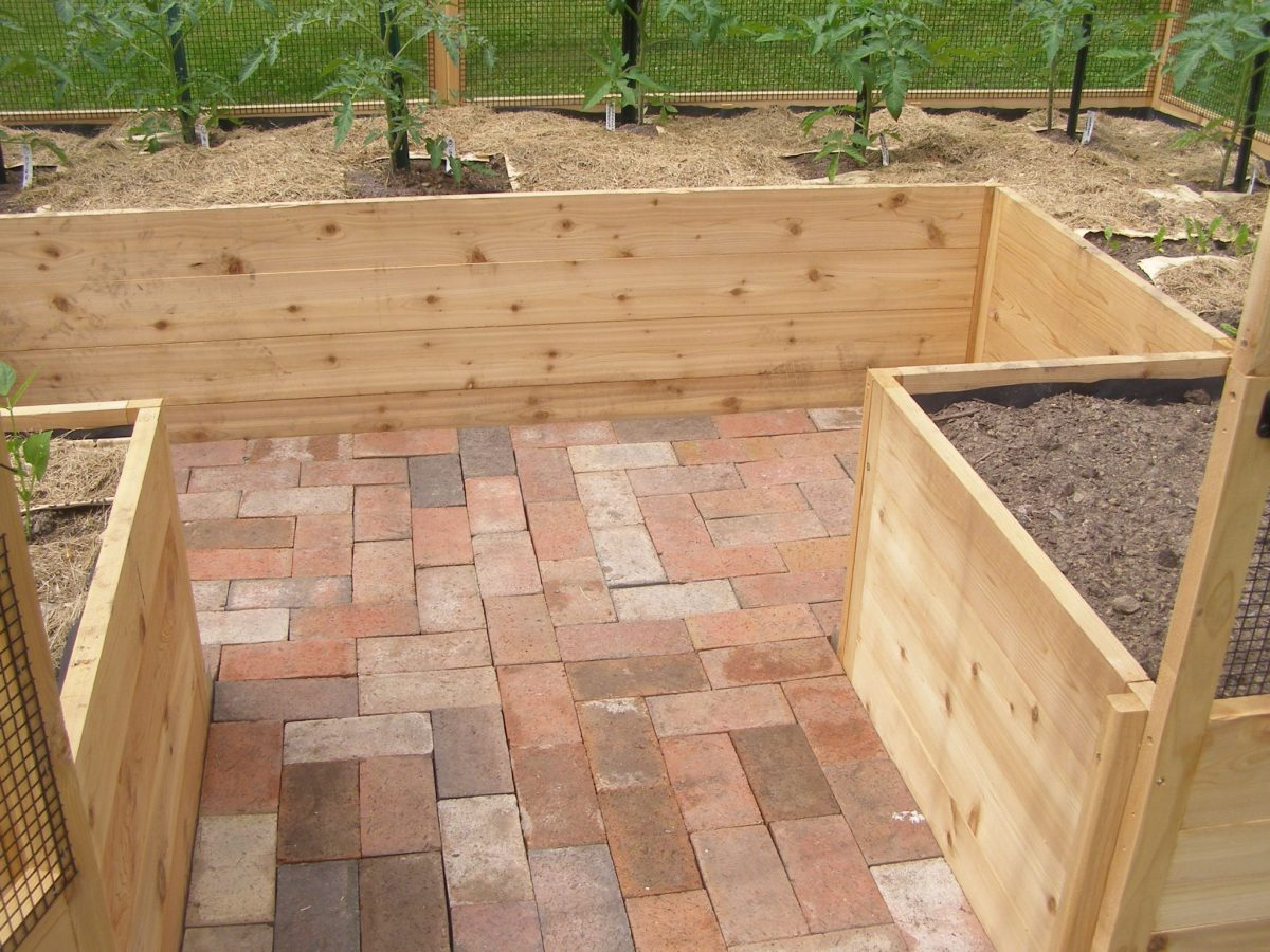 Deer proof garden brick floor